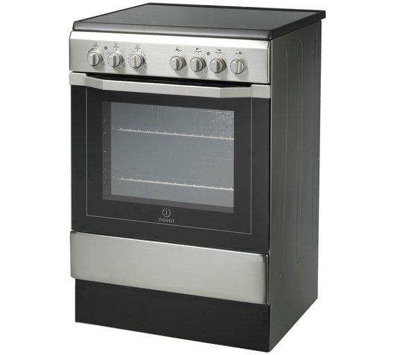 buy indesit i6vv2ax freestanding cooker s steel at. Black Bedroom Furniture Sets. Home Design Ideas