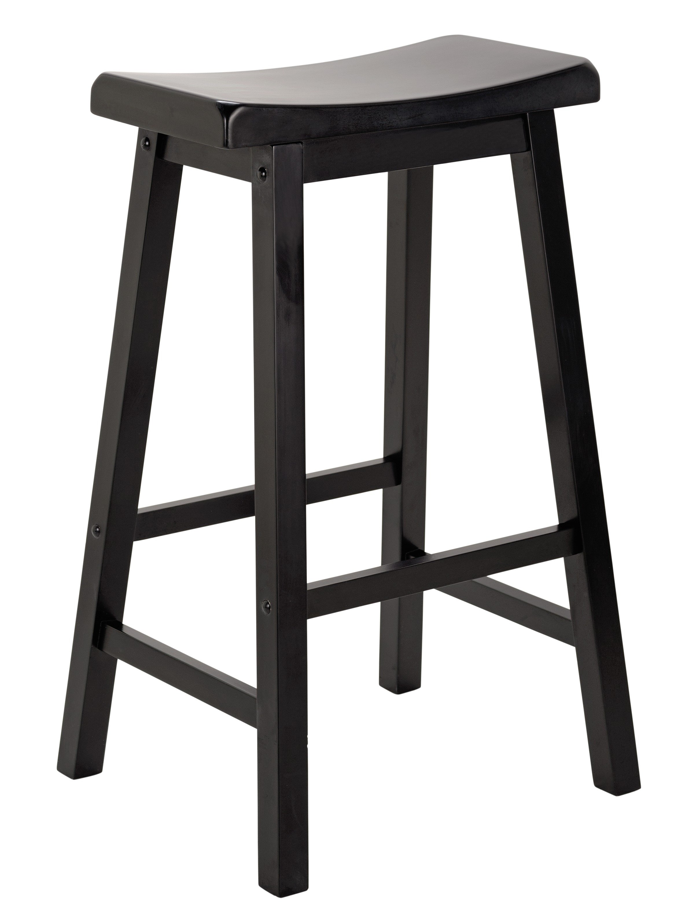 Sale On Hygena Solid Wood Saddle Bar Stool Black