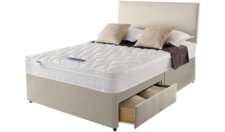 Silentnight Auckland Natural 2 Drawer Divan - Small Double