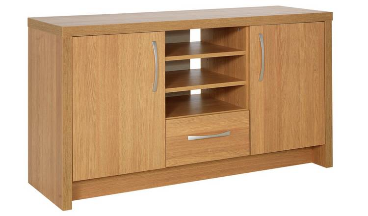 Argos Home Venice 2 Door 1 Drawer Low Sideboard - Oak Effect