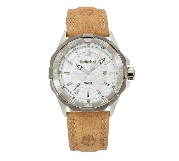 buy timberland men s paugus silver dial leather strap watch at timberland men s paugus silver dial leather strap watch459 3355