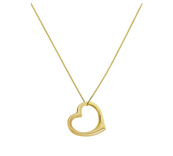 Buy revere 9ct gold floating heart pendant ladies necklaces argos revere 9ct gold floating heart pendant mozeypictures Gallery