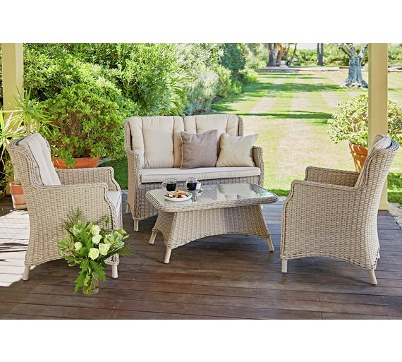 Heart of House Argenta Rattan Effect 4 Seater Sofa Set459 4206. Buy Heart of House Argenta Rattan Effect 4 Seater Sofa Set at