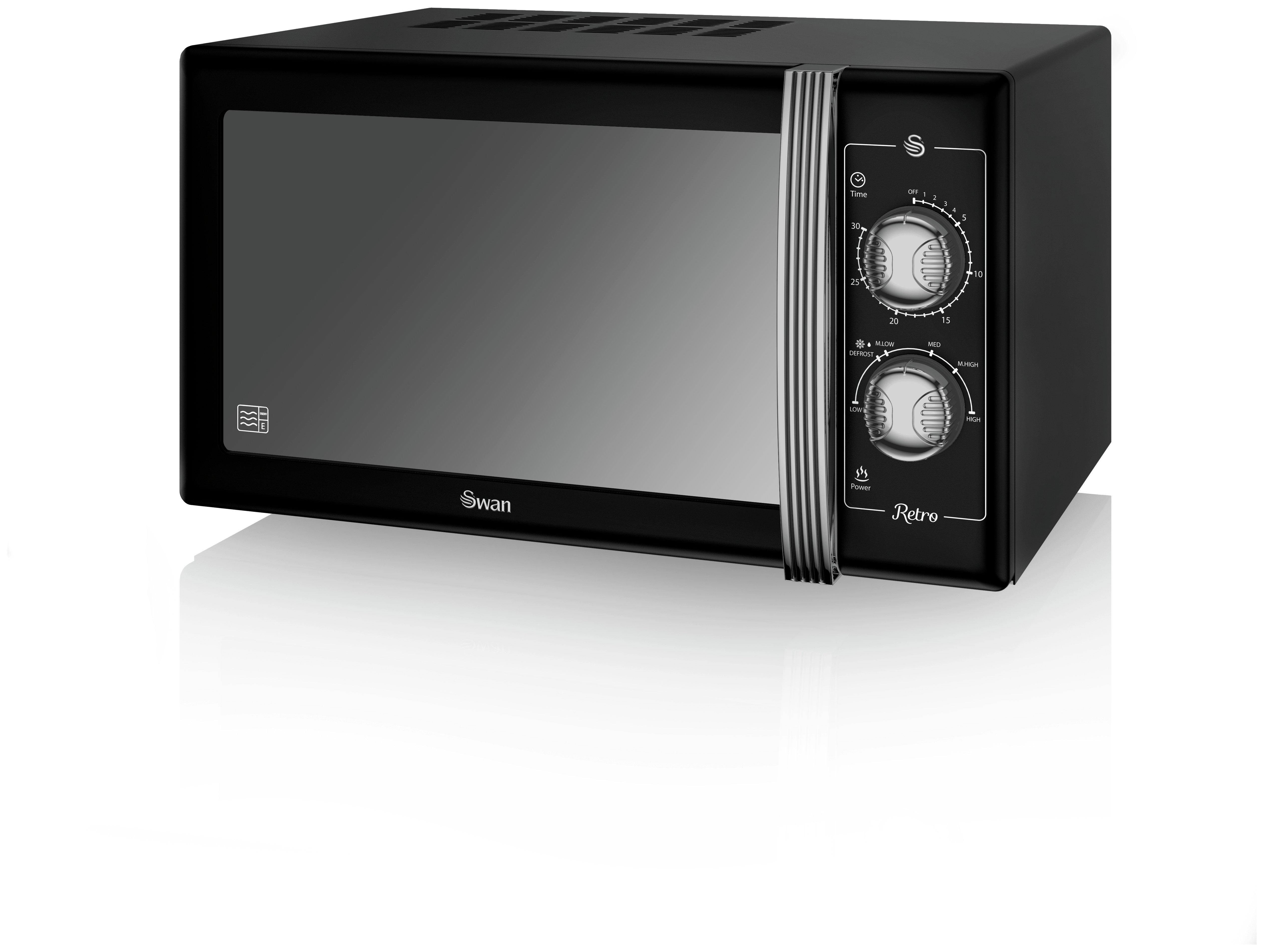 Swan - Standard Microwave -SM22070 -Black
