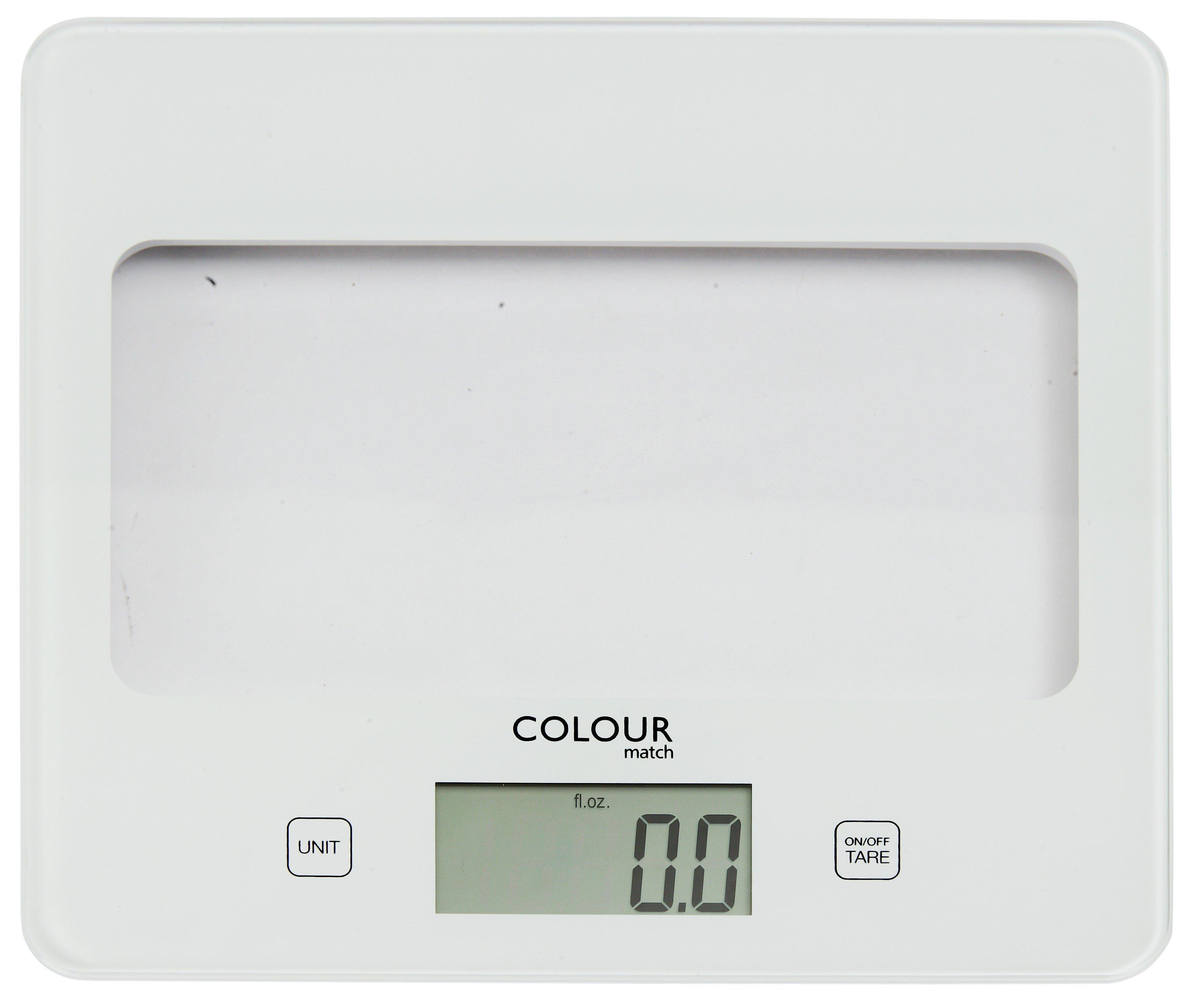 Image of ColourMatch - Digital Kitchen Scale - Super White