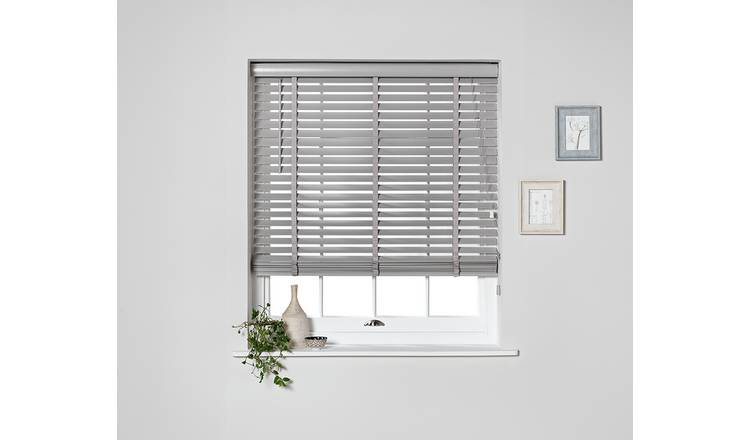 Argos Home Elliott 50mm Wooden Tape Venetian Blind - Grey