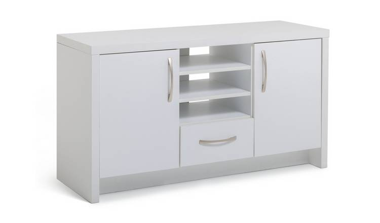 Habitat Venice 2 Door 1 Drawer Low Sideboard - White