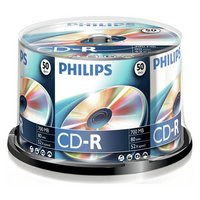 Philips - CD-R Pack of 50 on a Spindle