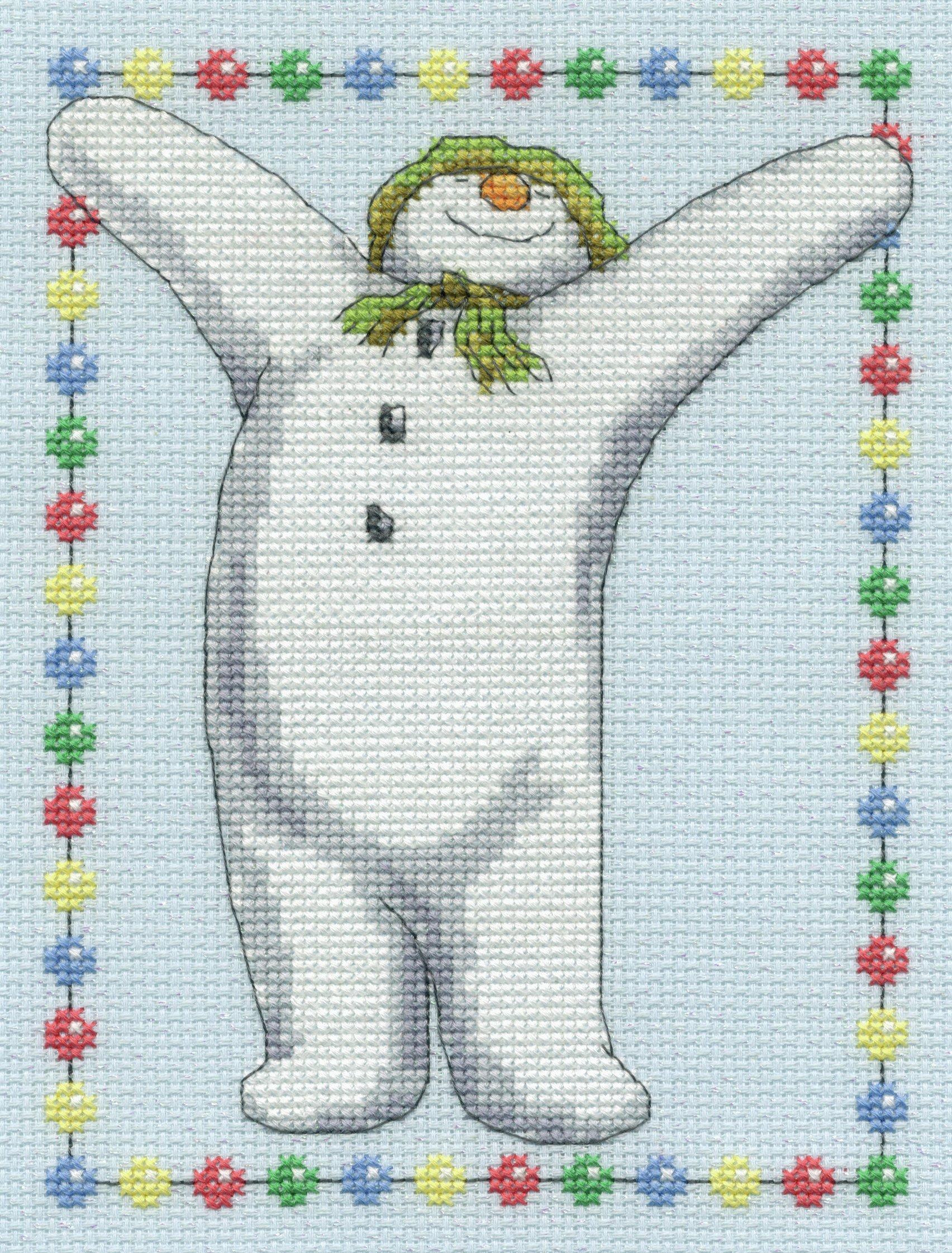 the-snowman-snowdog-celebration-cross-stitch-kit