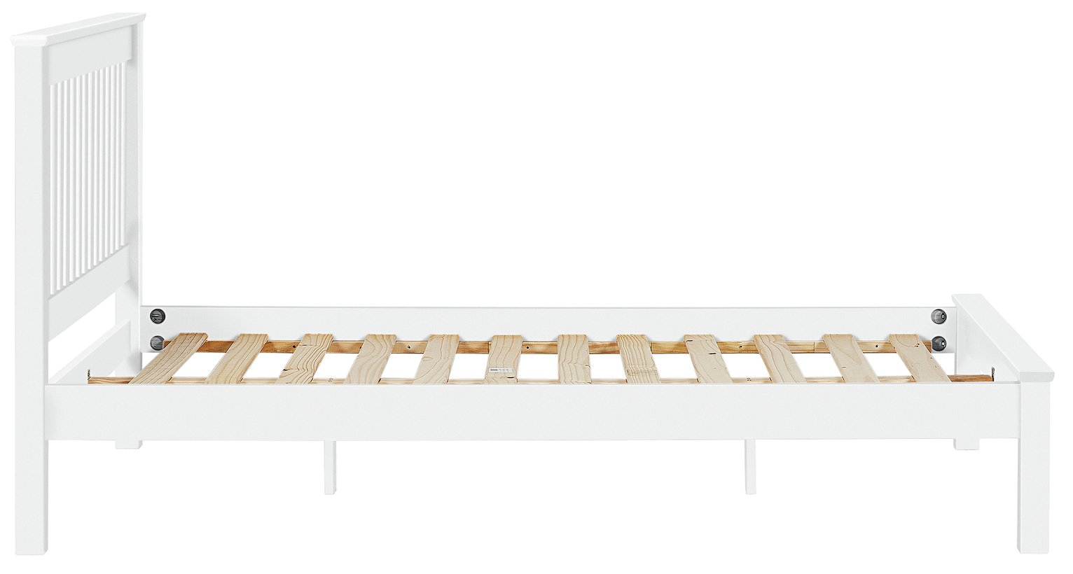 Buy Collection Aspley Double Bed Frame White at Argoscouk