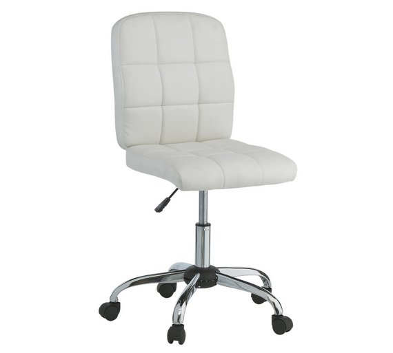 Buy home jarvis gas lift height adjustable office chair white at your online Argos home office furniture uk