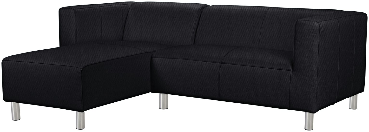 Argos Home Moda Left Corner Fabric Sofa - Black