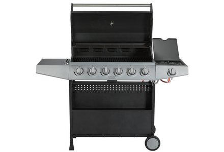 Image of the Premium 6 Burner Gas BBQ with Side Burner.