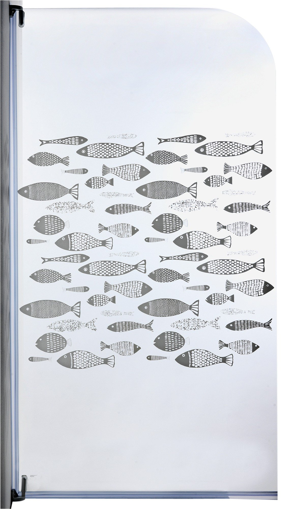 Aqualux Half Framed Silver Radius Fish Bath & Shower Screen