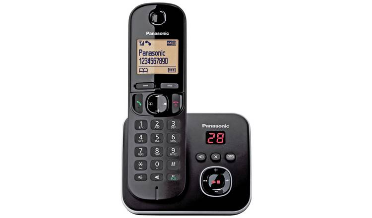 Panasonic KXTG6801 Cordless Telephone with Answer M/c-Single