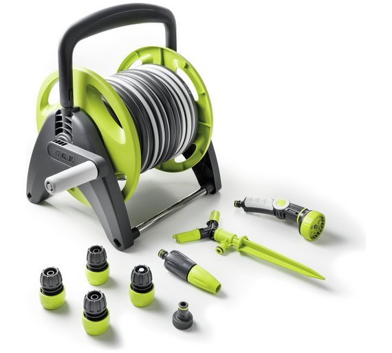Compact Hose Reel with Accessories - 25m lowest price