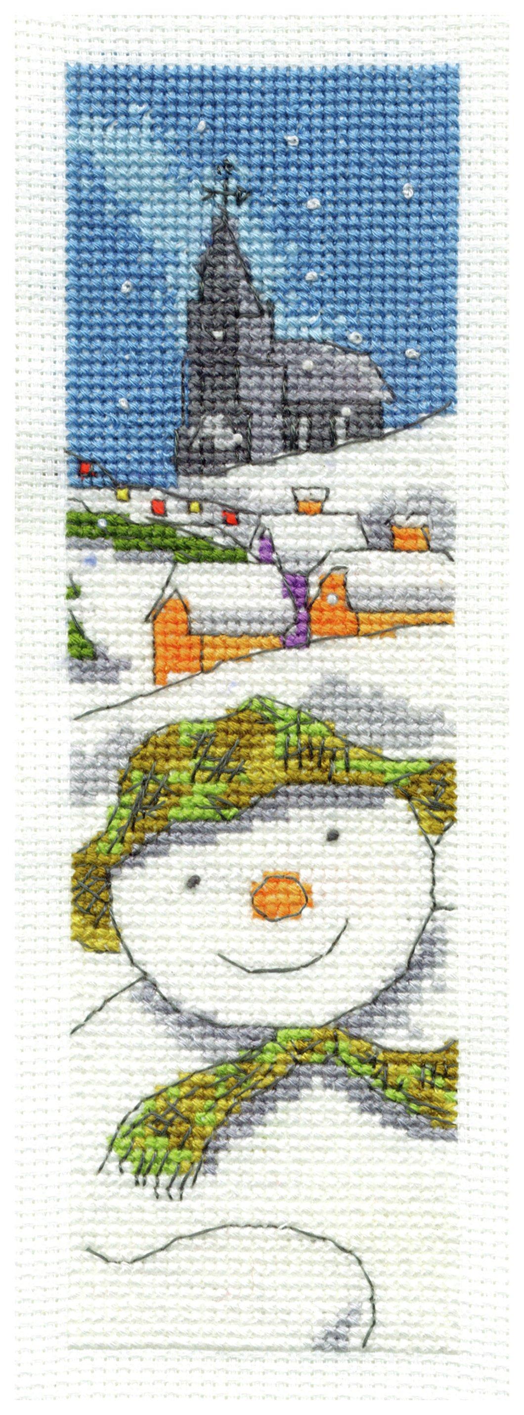 the-snowman-bookmark-cross-stitch-kit