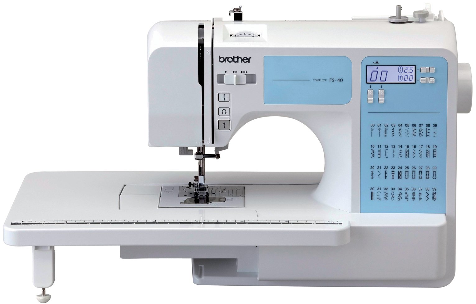 Brother - FS40 Sewing Machine with Extension Table - White