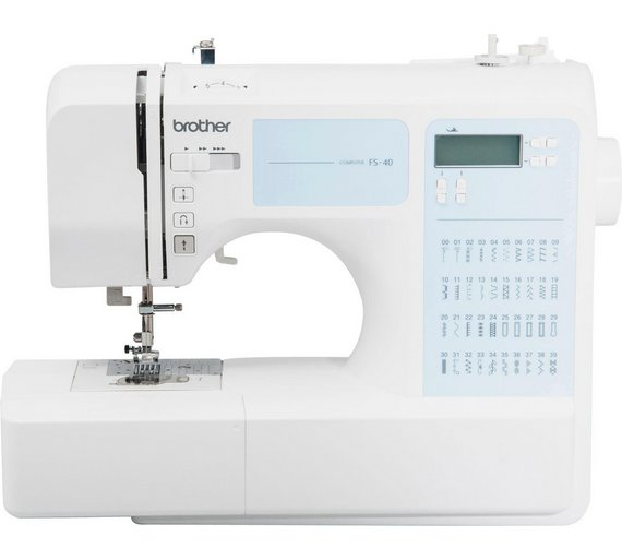 buy brother fs40 sewing machine with extension table white at your online shop. Black Bedroom Furniture Sets. Home Design Ideas