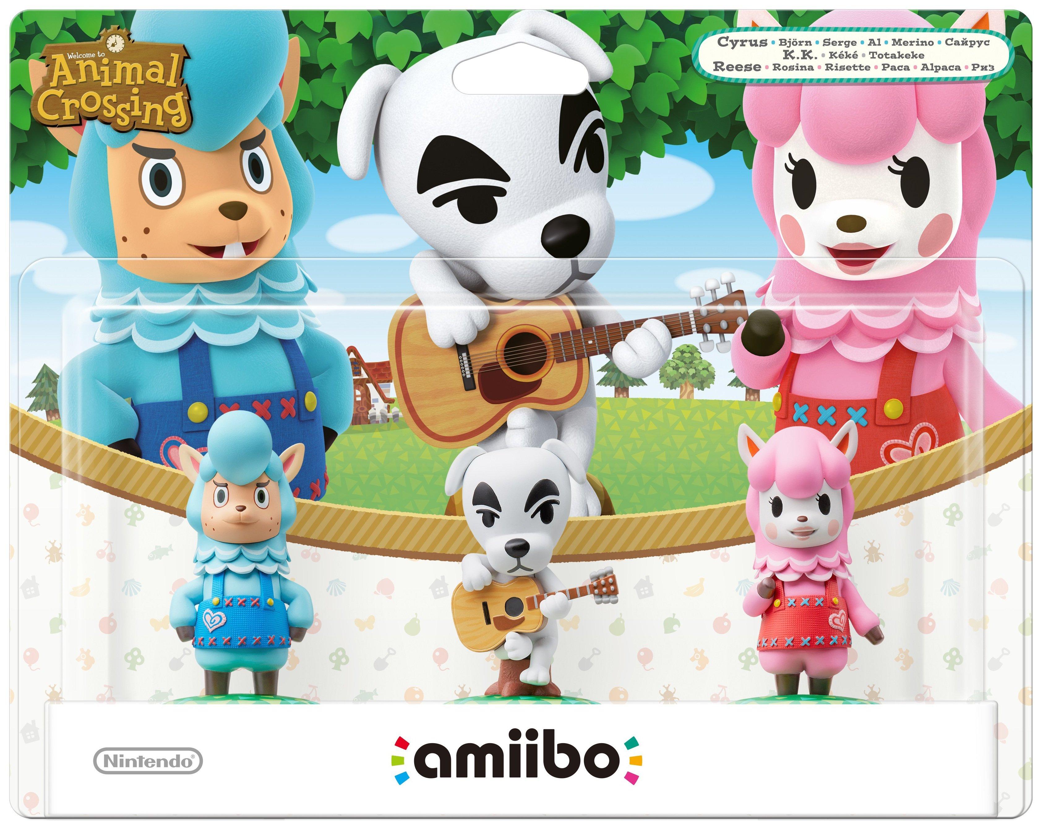 amiibo Animal Crossing 3 Pack - Reese, K.K. Slider, Cyrus
