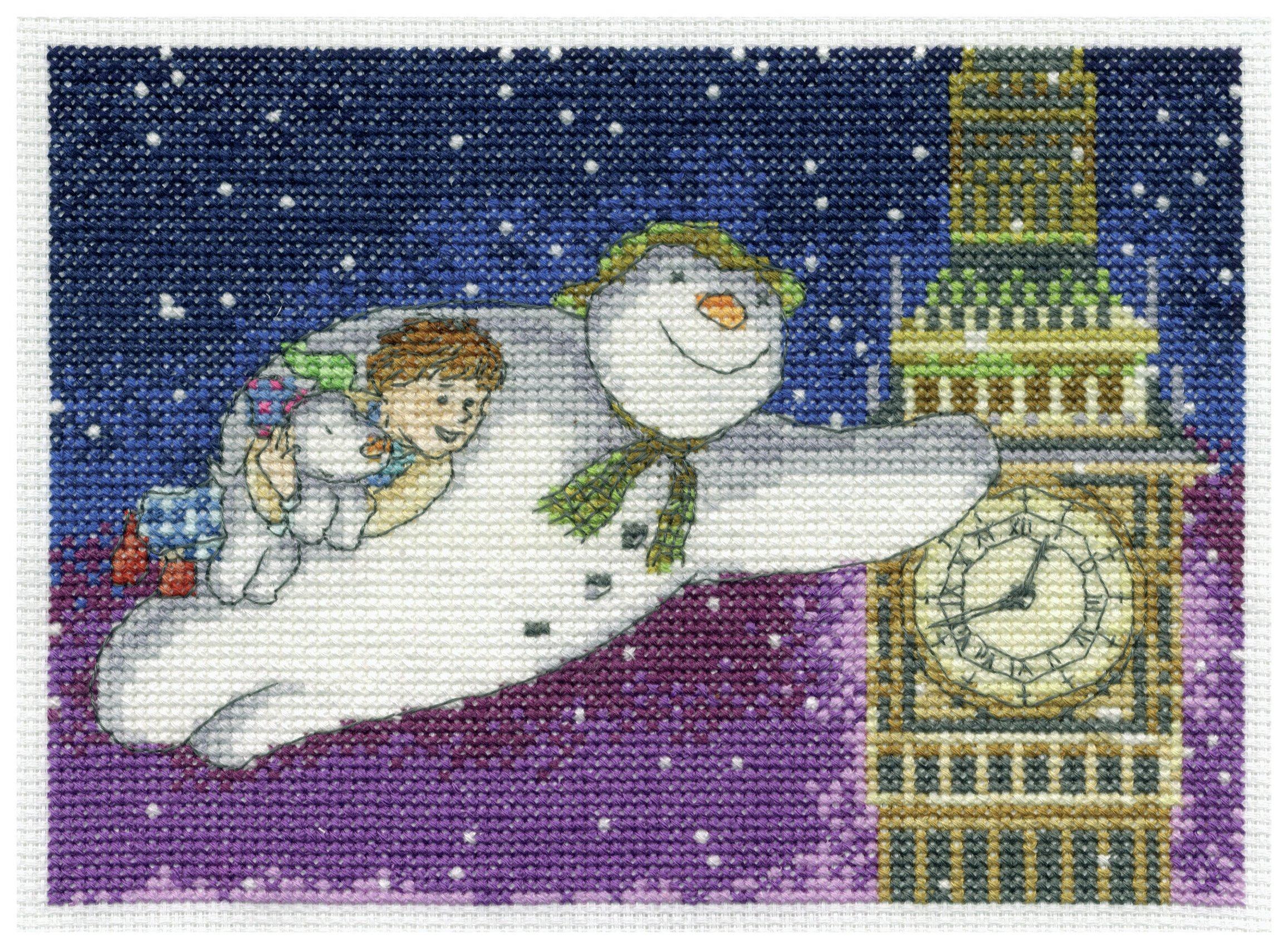 the-snowman-snowdog-flying-passed-big-ben-cross-stitch-kit