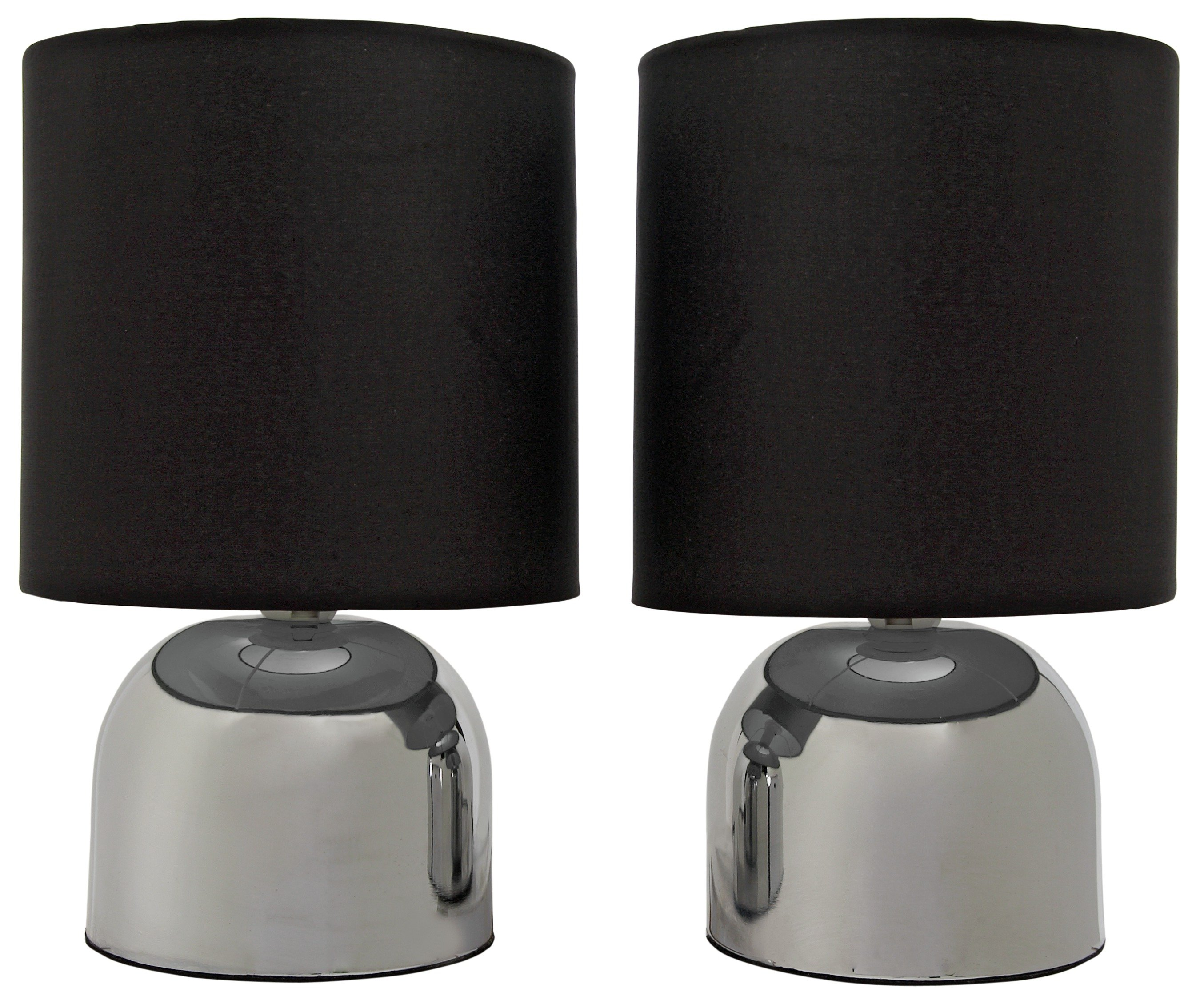 Colourmatch pair of touch table lamps jet black gay
