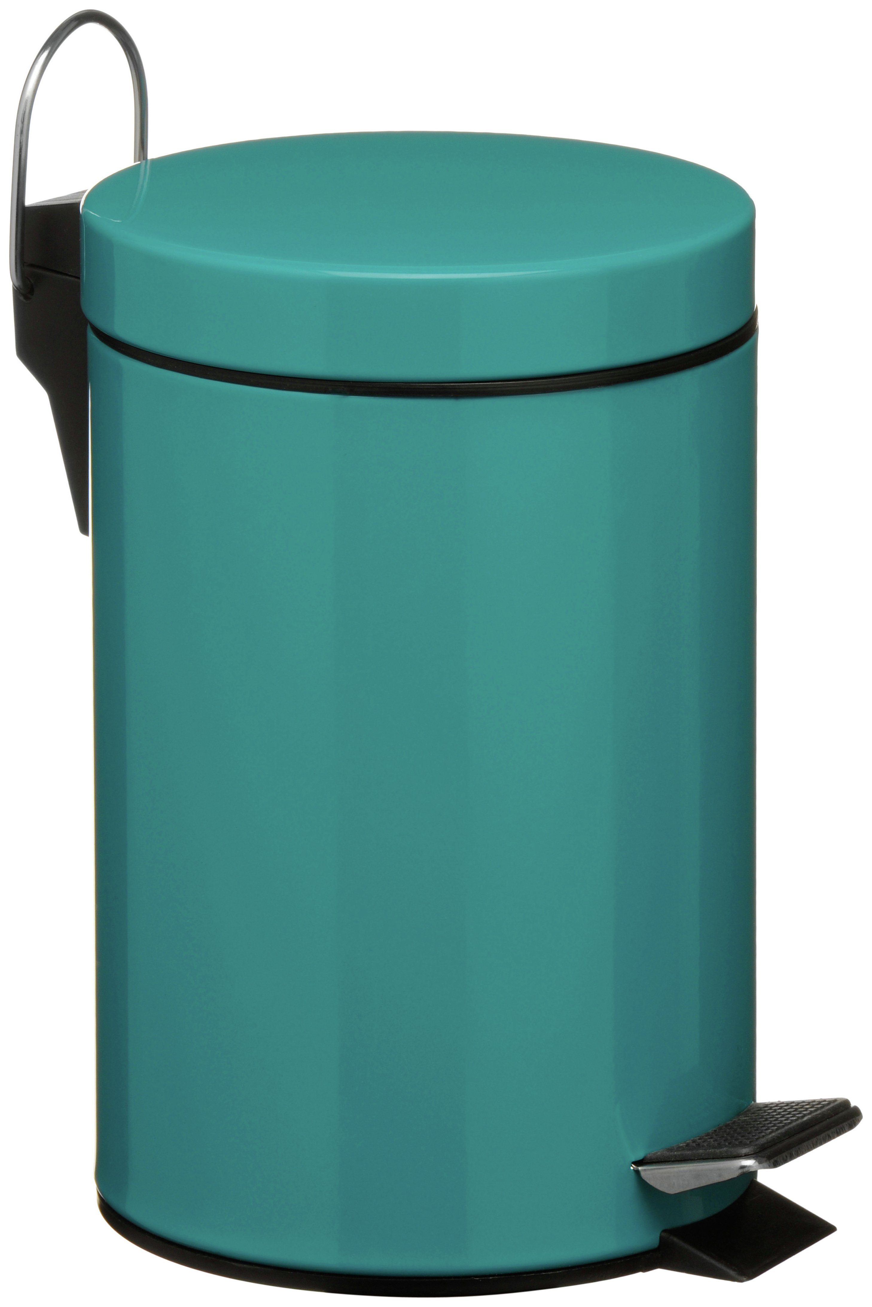 3 Litre Pedal Bin with Plastic inner - Turquoise.