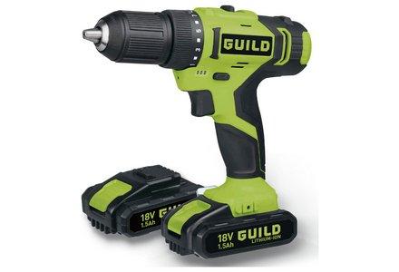 Guild 1.5AH Li-Ion Cordless Drill Driver - 18V.
