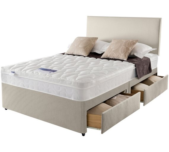 Buy silentnight auckland natural superking 4 drw divan bed at your online shop for Home furniture online auckland