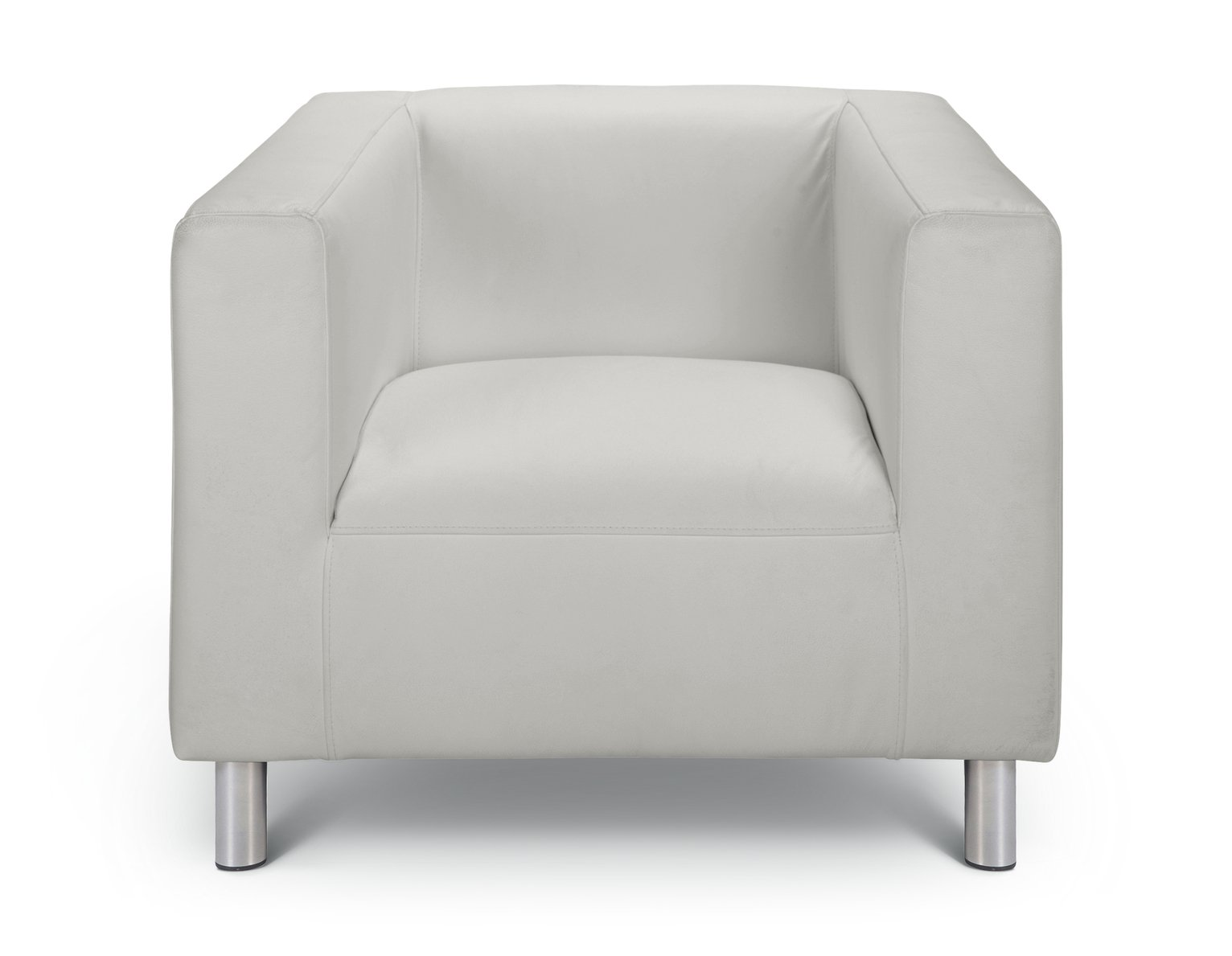 Argos Home Moda Faux Leather Armchair - White