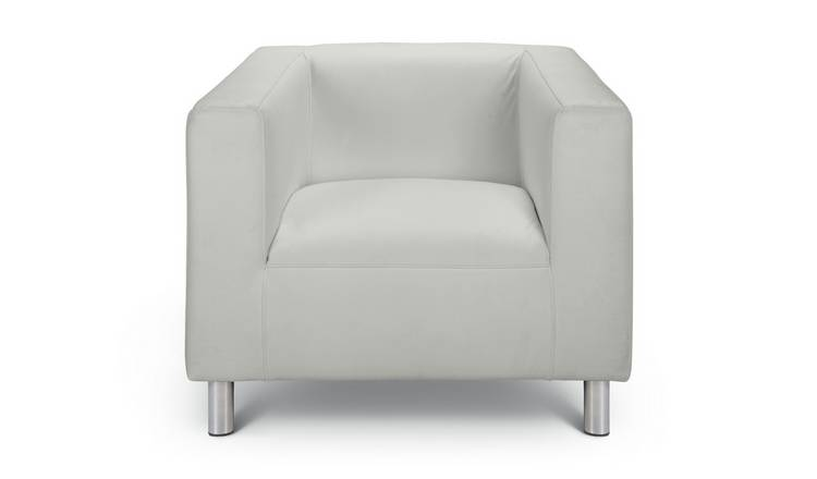 Habitat Moda Faux Leather Armchair - White
