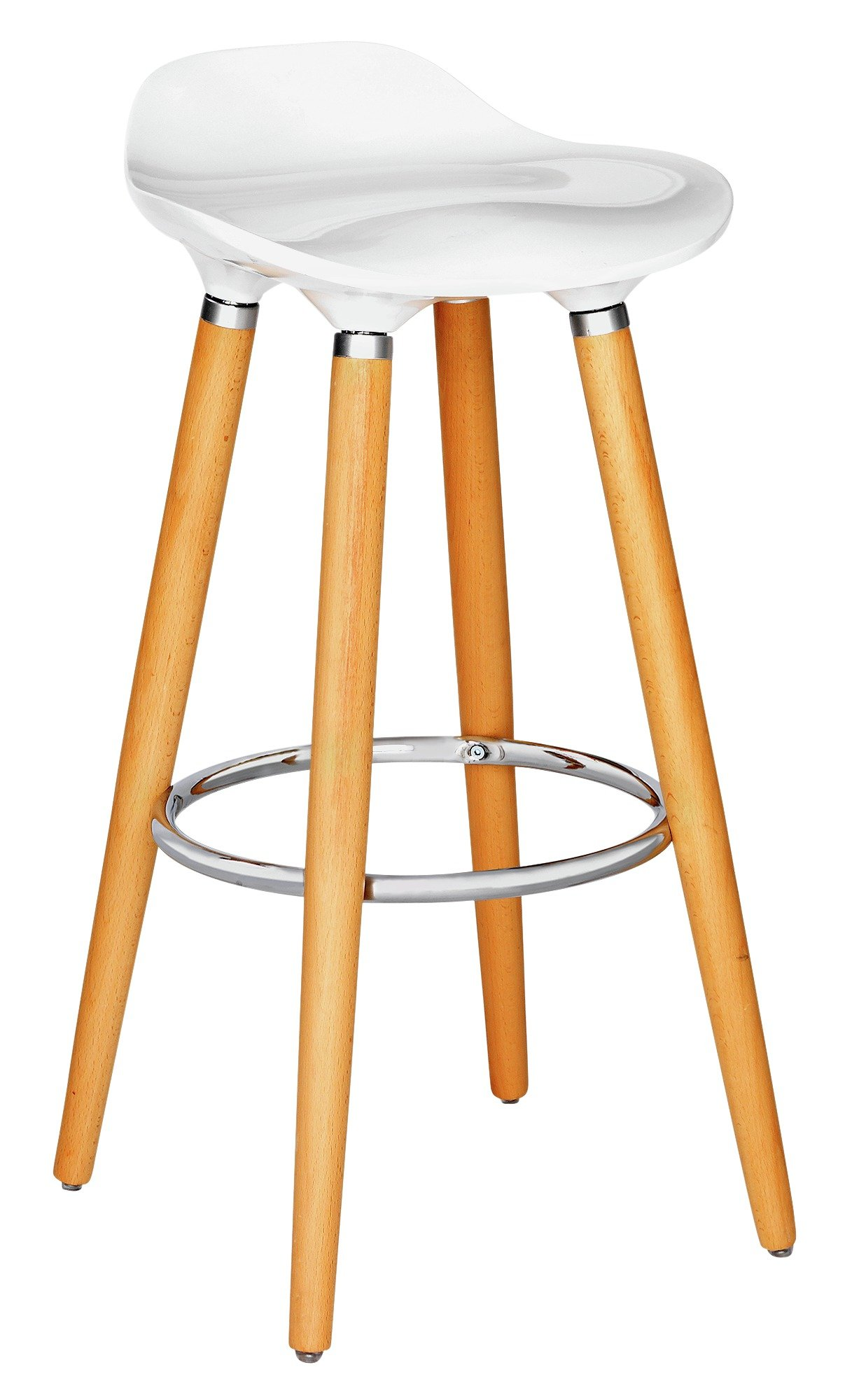 Hygena Bay Bar Stool - White