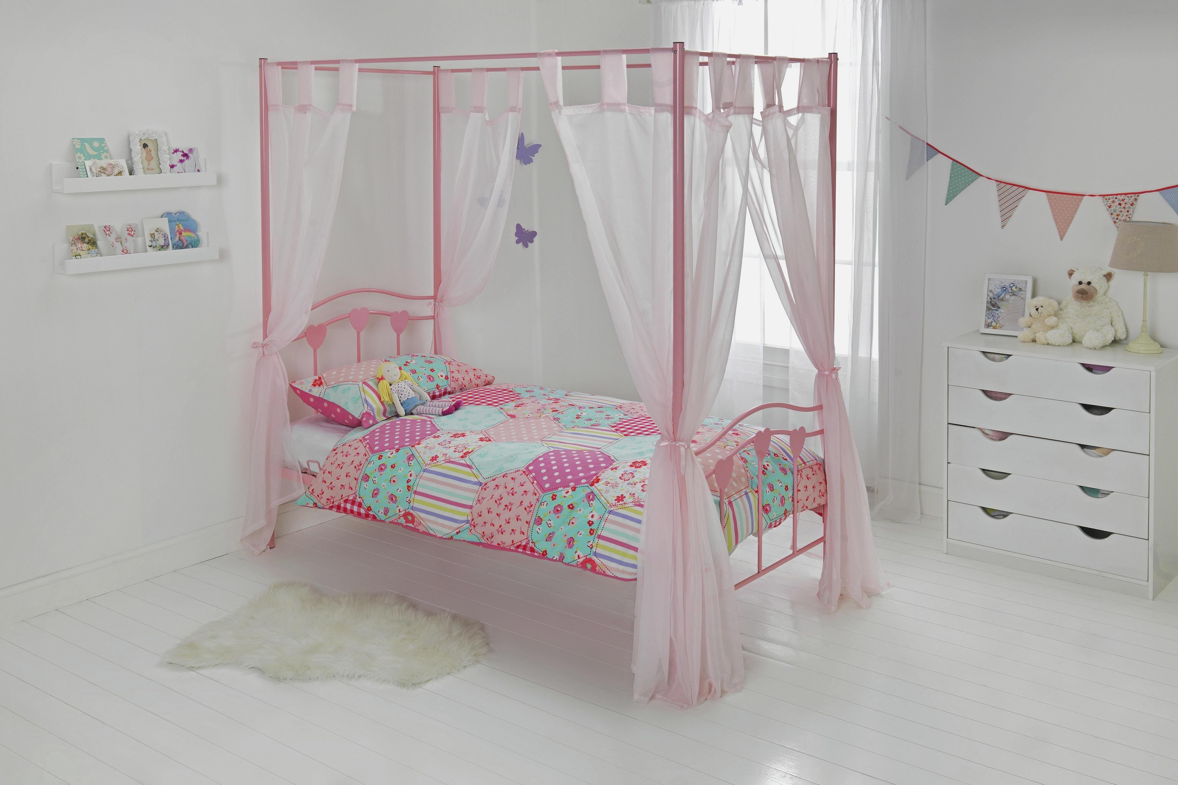 hearts-single-four-poster-bed-with-elliott-mattress-pink