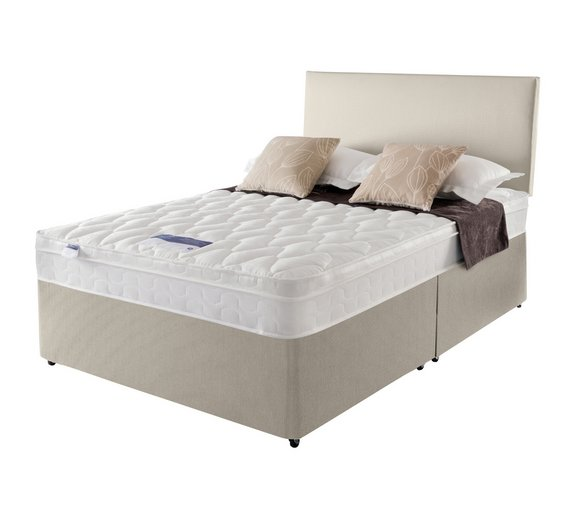 Online Bed Stores: Buy Silentnight Auckland Natural Double Divan Bed At Argos