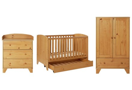 BabyStart New Oxford 5 Piece Furniture Set - Pine.