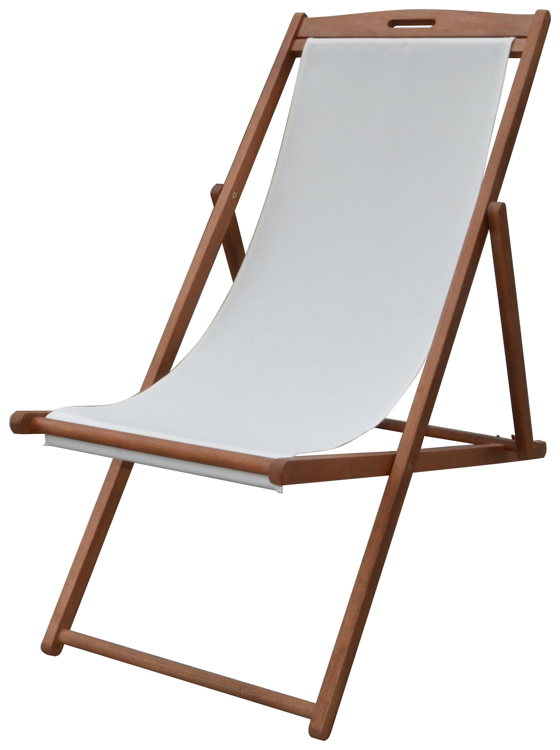 Argos Home Deck Chair - Cream