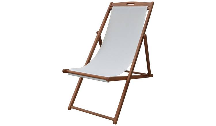 Argos Home Deck Chair - Cream 0