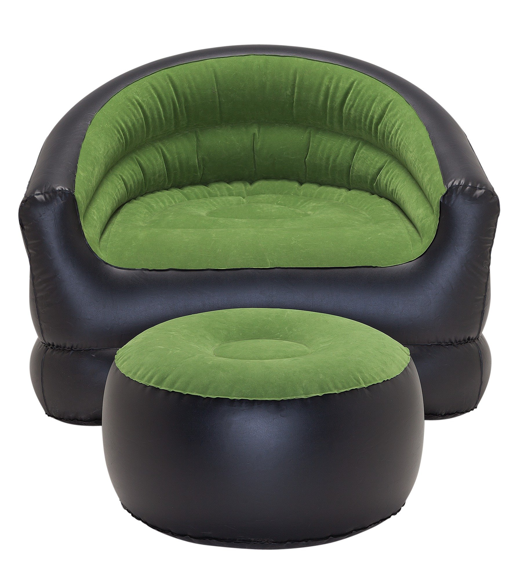 PVC Flocked Inflatable Camping Chair with Free Footstool lowest price