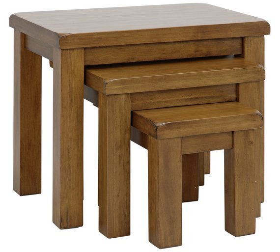 Sale On Argos Home Arizona Nest Of 3 Tables Solid Pine