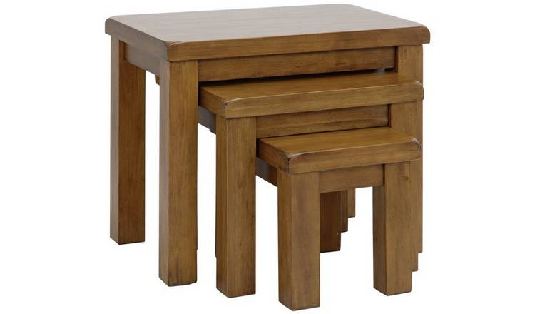 Argos Home Arizona Nest of 3 Solid Wood Tables