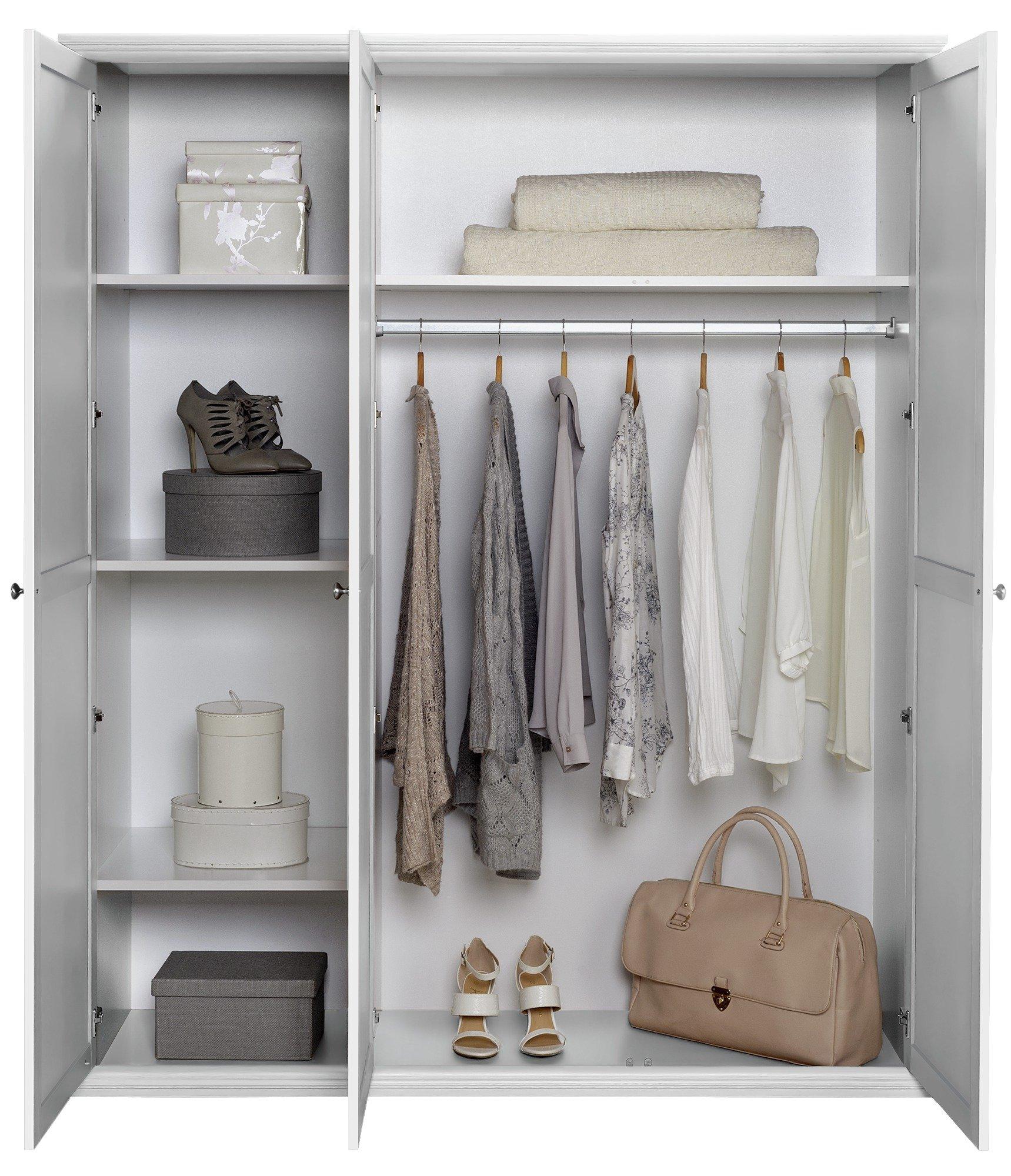 Buy Home Canterbury 3 Door Wardrobe White At Argos Co Uk