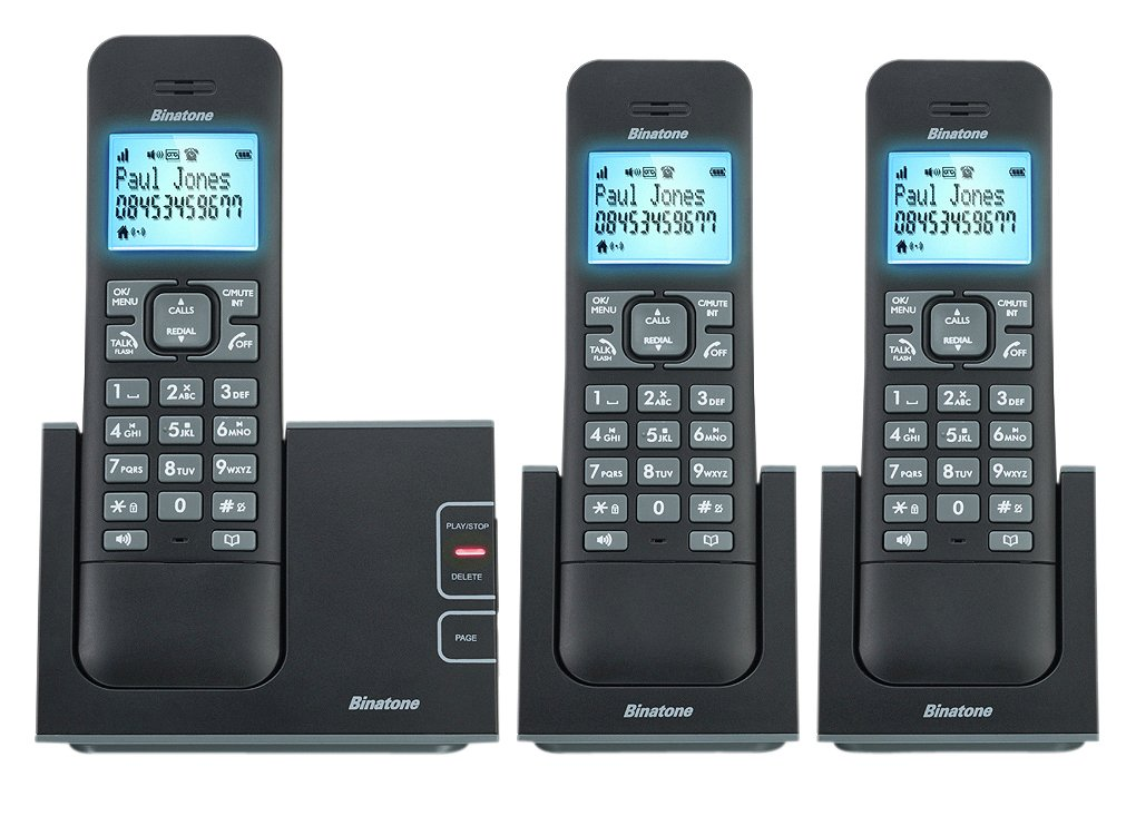 Image of Binatone - Defence - Cordless Telephone & Answer Machine - Triple