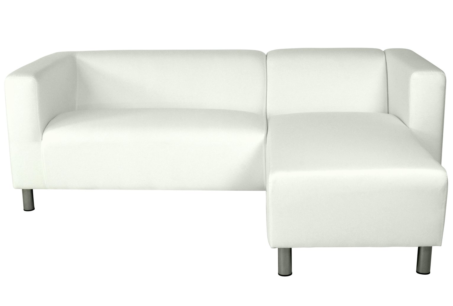 Argos Home Moda Right Corner Fabric Sofa - White