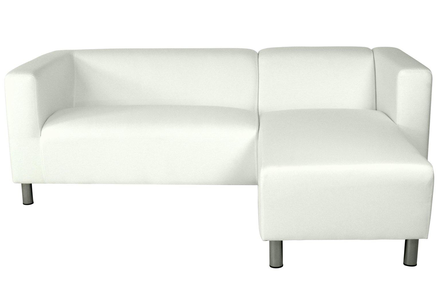 'Colourmatch - Moda - Fabric Right Hand Corner Sofa - Super White