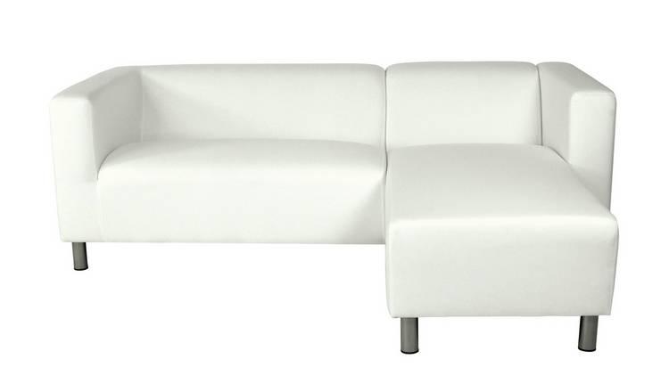 Pleasing Buy Argos Home Moda Right Corner Fabric Sofa White Sofas Argos Machost Co Dining Chair Design Ideas Machostcouk