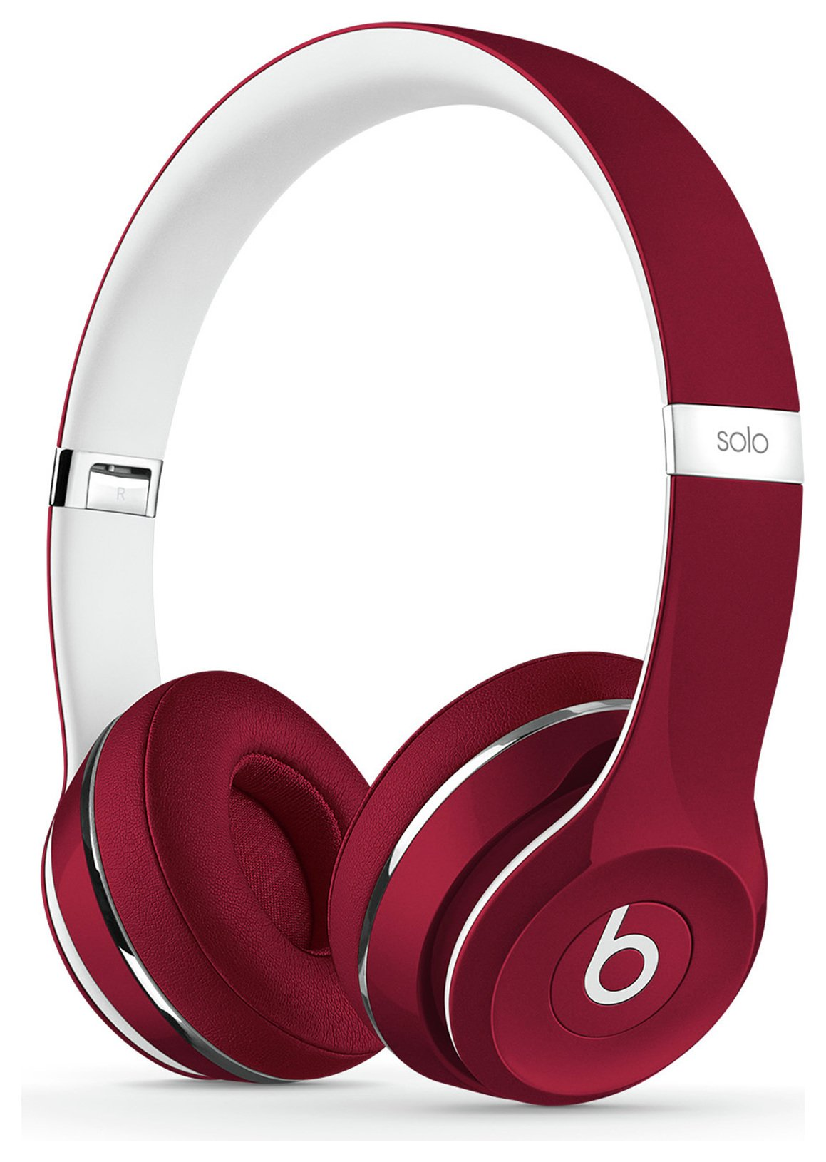 Image of Beats - Solo2 On-Ear Headphones Luxe Edition - Red