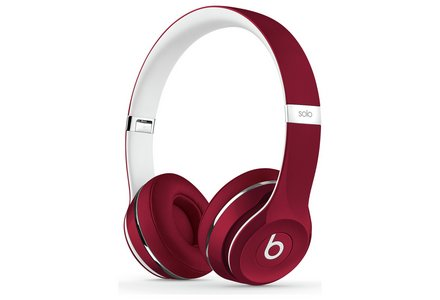 Beats Solo2 On-Ear Headphones Luxe Edition - Red.
