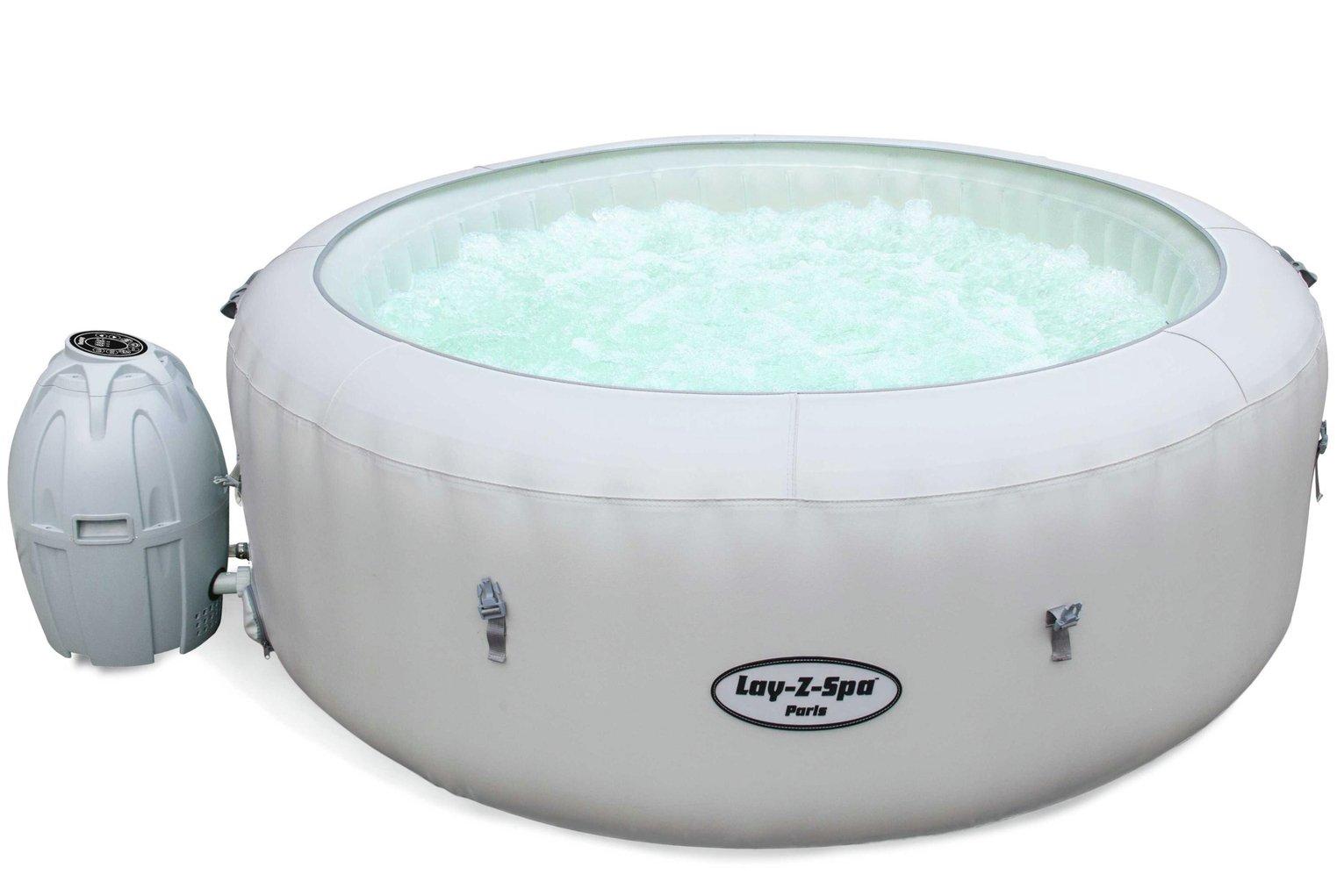 Lay-Z-Spa Paris 6 Person LED Hot Tub