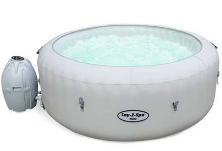 Image of a Paris 6 Person LED Lay-Z-Spa Hot Tub.