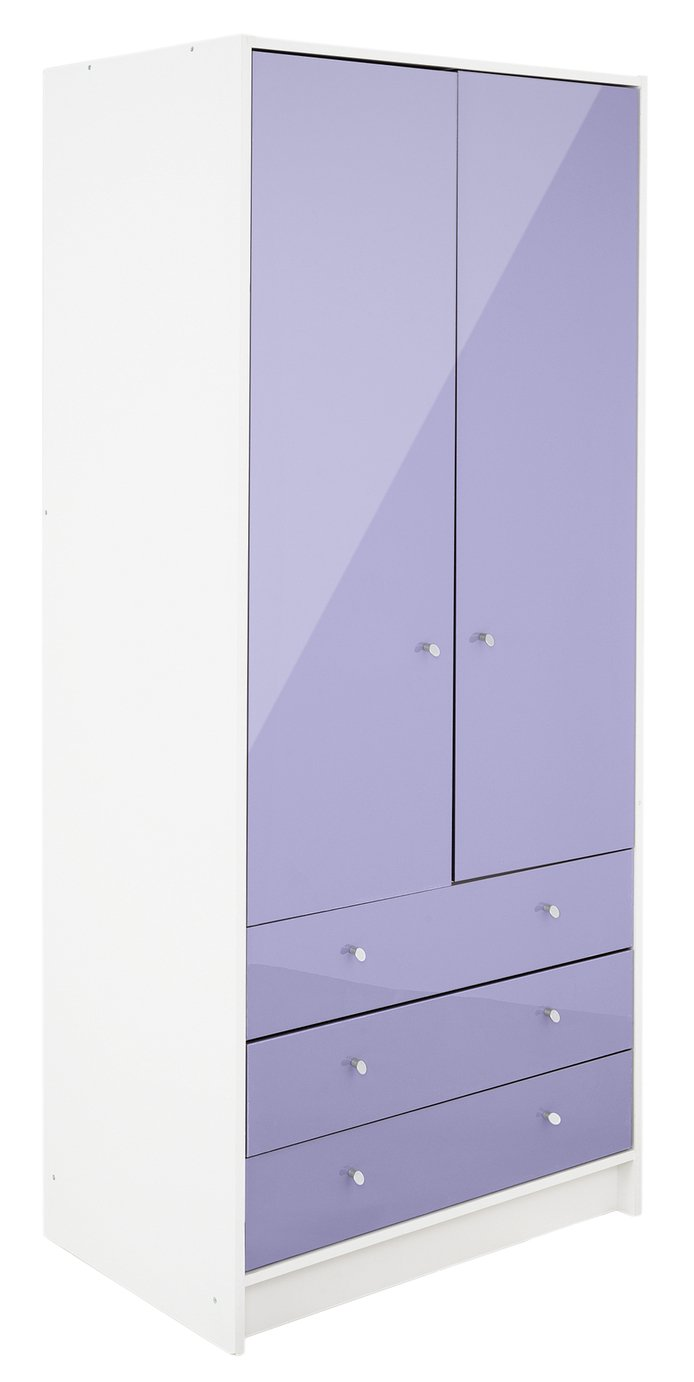 home-kids-new-malibu-gloss-2-door-3-drawer-wardrobe-lilac